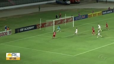 O gol do CRB na vitória sobre o Santa Cruz pela Copa do Nordeste - Rafael Longuine fez o único gol da partida