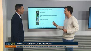 Quiz do G1 Ponta Grossa mostra quais lugares visitas nas férias - Paraná atrai, anualmente, um milhão de turistas estrangeiros.