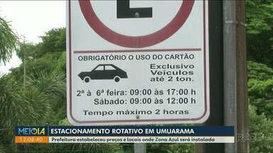 Prefeitura determina valores para estacionamento rotativo em Umuarama - Concurso deve contratar servidores para gerenciar sistema.