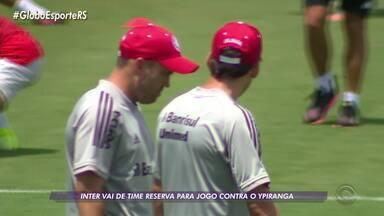 Inter fecha treino em preparação para o jogo contra o Ypiranga; Rodinei sai mancando - Assista ao vídeo.