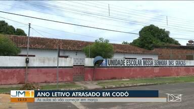 Alunos relatam atraso no início do ano letivo em escolas de Codó - Atraso preocupa professores, que se dizem prejudicados e também o Ministério Público do Maranhão.