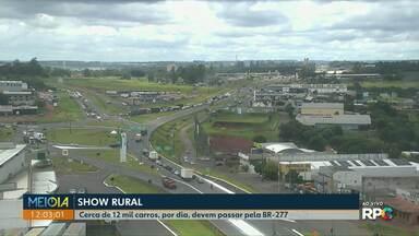 Mais de 12 mil carros devem passar pela BR-277 durante os dias de Show Rural - Trânsito deve ficar intenso no Trevo Cataratas. Mais de 250 mil visitantes são esperados para a feira.