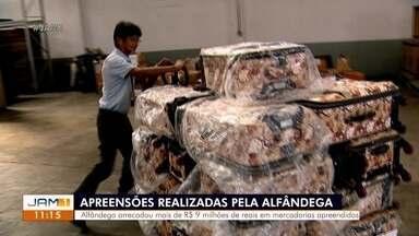 Alfândega em Manaus arrecadou R$ 9 milhões em apreensões - Alfândega em Manaus arrecadou R$ 9 milhões em apreensões