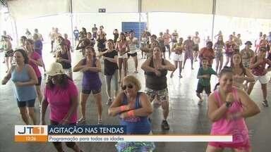 Tendas em Santos tem programação até 25 de fevereiro - Atividades nas tendas da cidade acontecem de quarta a domingo.