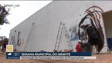 'Semana Municipal do Graffiti' é realizada em Uberlândia - Eventos visam desconstruir o preconceito com o grafite. Atividades iniciam nesta quinta-feira (30). Confira a programação.