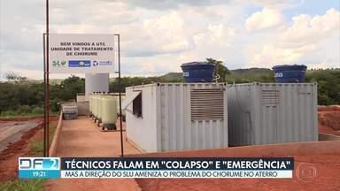 Chuvas aumentam preocupação com vazamentos no Aterro Sanitário - Documentos mostram que a própria diretoria do SLU teme que o sistema entre em colapso e sugere decretar situação de emergência.