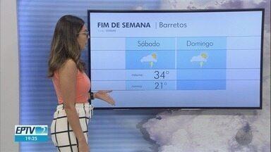 Confira a previsão do tempo na região de Ribeirão Preto - Pode chover durante o final de semana.