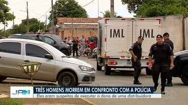 Três homens são mortos durante ação da Polícia Militar, em Aparecida de Goiânia - A Polícia Militar disse que não vai se manifestar sobre a ocorrência.
