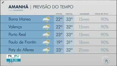 Sábado é de sol entre nuvens no Sul do Rio - Há possibilidade de pancadas de chuva no fim do dia. Em algumas cidades da região os termômetros ultrapassam os 30 graus.