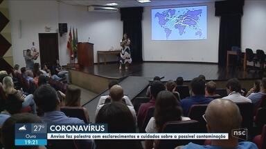 Anvisa realiza palestra em SC sobre o coronavírus - Foram repassadas informações e recomendações sobre a doença