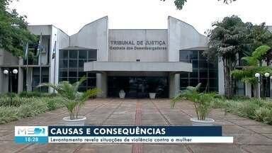Denúncias de violência contra a mulher - Tribunal de Justiça faz levantamento que revela situações de violência contra a mulher