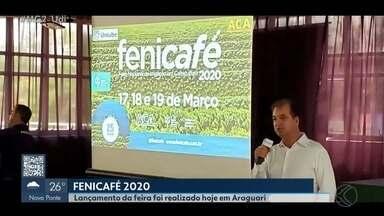 Fenicafé 2020 é lançada em Araguari - Feira Nacional de Irrigação em Cafeicultura será realizada entre os dias 17 e 19 de março no Pica-Pau Country Club. A expectativa é de que o evento atraia mais de 20 mil pessoas neste ano.