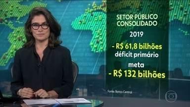 Contas do setor público consolidado fecham no vermelho em R$ 61,8 bilhões, em 2019 - Apesar de negativo, foi o menor rombo dos últimos 5 anos e menos da metade da meta do governo.