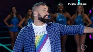 Júnior Chicó faz a plateia rir no 'Quem Chega Lá' - Confira a apresentação do comediante