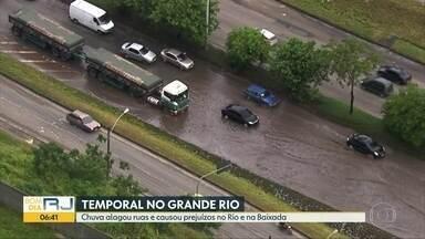 Temporal alagou ruas e causou prejuízos no Rio e na Baixada - Cuva durante a noite e madrugada foi intensa e causos diversos estragos na cidade do Rio e na Baixada Fluminense.
