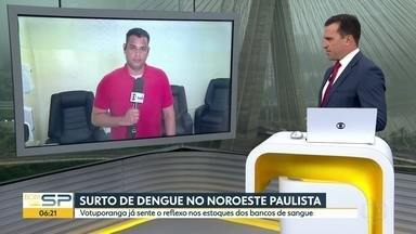 Surto de dengue no noroeste paulista - Votuporanga já sente o reflexo nos bancos de sangue.
