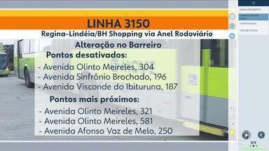Linhas de ônibus têm itinerários alterados em Belo Horizonte - Mudanças começam a vigorar nesta terça-feira (4).