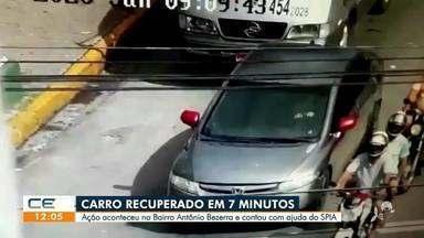 Mais um carro roubado é recuperado através do SPIA - Saiba mais no g1.com.br/ce