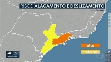 Grande São Paulo ainda tem risco de alagamento e de deslizamento de terra - Confira como ficam a chuva e as temperaturas até o fim da semana.