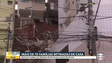 Bom Dia SP - Edição de quarta-feira, 05/02/2020 - Polícia procura uma sexta pessoa suspeita de participar do assassinato de pai, mãe e filho em São Bernardo. Casas de Taboão da Serra atingidas por um deslizamento são demolidas.