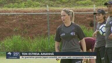 Guerreiras Grenás treinam para estreia no campeonato brasileiro - Time feminino da Ferroviária joga no sábado (7) contra o Audax.