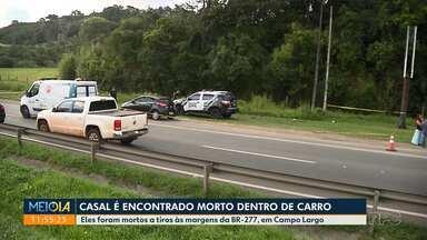 Casal é encontrado morto dentro de carro - Eles foram mortos a tiros às margens da BR-277, em Campo Largo
