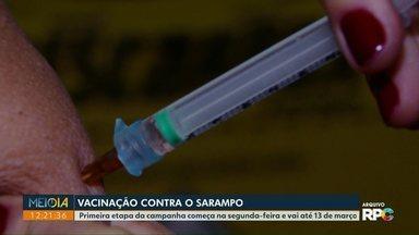 Vacinação contra o sarampo começa na segunda-feira - Devem ser imunizadas pessoas com idades entre 5 e 59 anos.