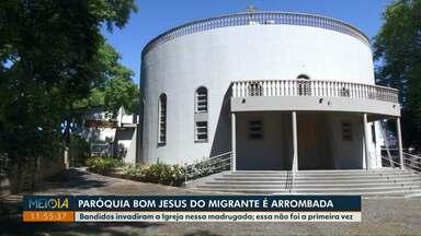 Ladrões roubam igreja Bom Jesus do Migrante na Vila Portes - Outras ocorrências já foram registradas.