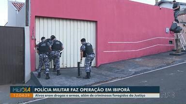 Polícia Militar faz operação para apreender drogas e armas em Ibiporã - Alvos também eram criminosos foragidos da Justiça.