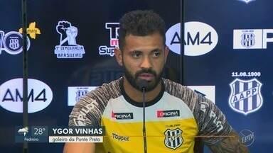 Ygor Vinhas aproveita sequência e vê com tranquilidade retorno de Ivan ao gol da Macaca - Vinhas deve voltar para o banco de reservas quando Ivan retornar do Pré-Olímpico da Colômbia na semana que vem.