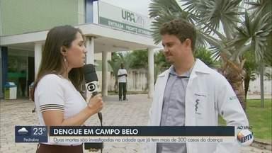 Mortes por suspeita de dengue são investigadas em Campo Belo (MG) - Cidade possui mais da metade do total de casos do Sul de Minas
