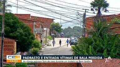 Padrasto e enteada são vítimas de bala perdida no Bom Jardim - Saiba mais no g1.com.br/ce