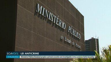 Lei anticrime é aplicada pela primeira vez em Foz do Iguaçu - Ministério Público Estadual propõe o primeiro acordo com investigado e evita processo lento na justiça.
