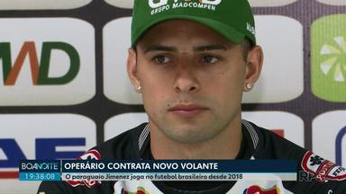 Operário apresenta novo jogador paraguaio - O volante Jimenez já está treinado com o time.