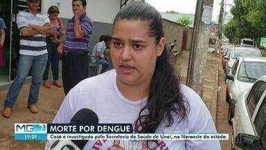 Homem que morreu com sintomas de dengue hemorrágica é velado em Unaí - Homem tinha 62 anos e caso está senod invetsigado pela Secretária de Saúde.