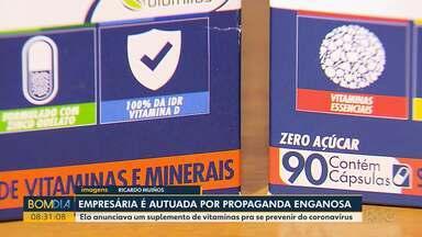 Dona de farmácia é autuada por vender comprimidos que preveniriam coronavírus - Ela publicou um vídeo na internet onde oferecia o produto.