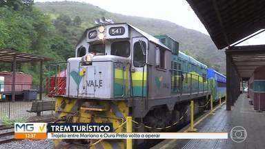 Trem da Vale volta a circular entre Ouro Preto e Mariana - Durante o carnaval, haverá marchinhas a bordo.