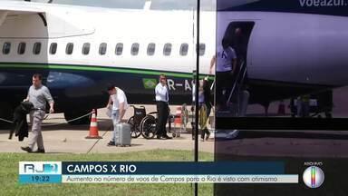 Aumento no número de voos de Campos para o Rio é visto com otimismo - Confira na reportagem a seguir.