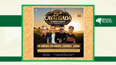Agenda Rural: Veja os eventos que acontecem em toda a Bahia - Entre os destaques está a Cavalgada de Paripiranga