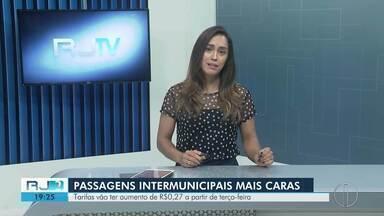 Passagens intermunicipais aumentam a partir de terça - Tarifas de ônibus vão subir R$ 0,27. Divulgação foi feita pelo Departamento de Trânsito do Rio.