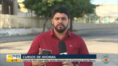 Curso de idiomas oferece 400 vagas em Campina Grande e João Pessoa - Confira os detalhes com o repórter Artur Lira.