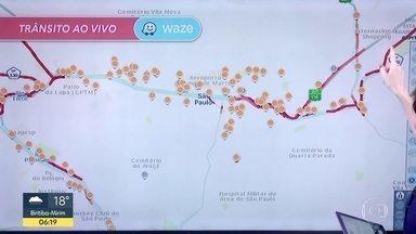 Confira a situação do trânsito pelo aplicativo Waze - Veja como estão as ruas e estradas com os alagamentos da cidade de SP.