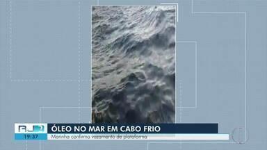 Pescadores registram óleo no mar de Cabo e Marinha confirma vazamento de plataforma - Segundo o comunicado, o vazamento foi de cerca de 0,007 metros cúbicos de água oleosa e a mancha foi dispersada mecanicamente no mesmo dia.