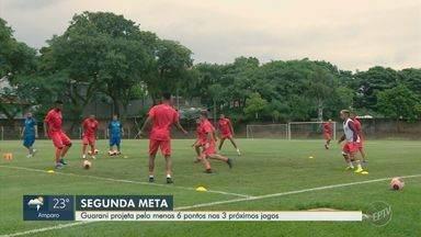 Guarani projeta pelo menos 6 pontos nos 3 próximos jogos - O Bugre está animado com o desempenho. Estão em primeiro lugar em um grupo com Corinthians, Bragantino e Rodoviária. São 8 pontos conquistados em 5 jogos.