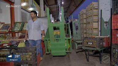 Chuva em SP faz frutas e legumes subirem até 80% na Ceasa de Campo Grande - Cerca de 45% do que é vendido em MS tem origem em São Paulo.
