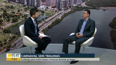 Especialista dá dicas de como evitar lesões durante o carnaval - Especialista dá dicas de como evitar lesões durante o carnaval.