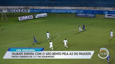 Taubaté e Atibaia empatam em jogos pela A2 - Burro da Central caiu para quarto.