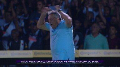 Vasco passa sufoco, mas supera Altos-PI e avança na Copa do Brasil - Vasco passa sufoco, mas supera Altos-PI e avança na Copa do Brasil