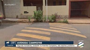 Após acidente, prefeitura instala lombada na avenida Campestre - Criança foi atropelada na semana passada na via do bairro Aero Rancho.