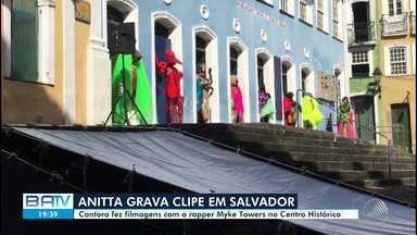 Anitta grava clipe com rapper porto-riquenho no Centro Histórico de Salvador - Gravação aconteceu nesta quinta-feira (13), na capital baiana.